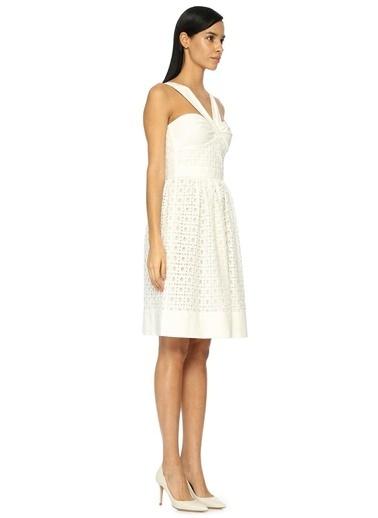 Çapraz Askılı Mini Dantelli Elbise-Boutique Moschino